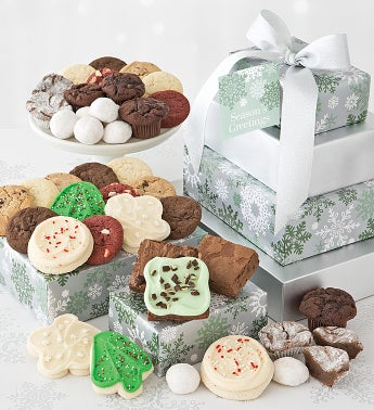 Elegant Holiday Bakery Gift Tower