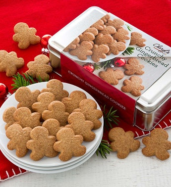 Crunchy Gingerbread Cookies Gift Tin
