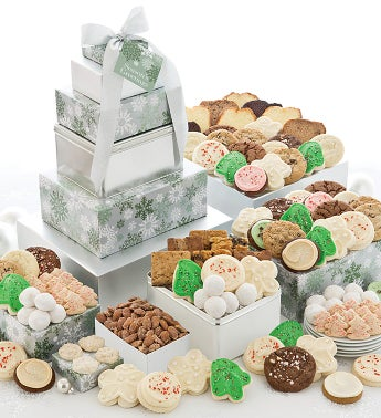 Elegant Holiday Grand Gift Tower