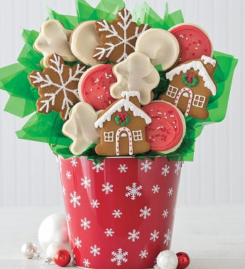Gingerbread Cookie Flower Pot
