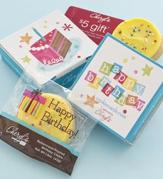 Birthday Cake Cookie Card