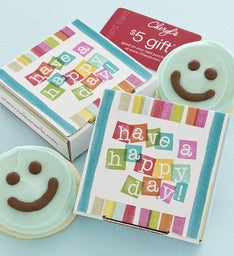 Have a Happy Day Cookie Card - Blue