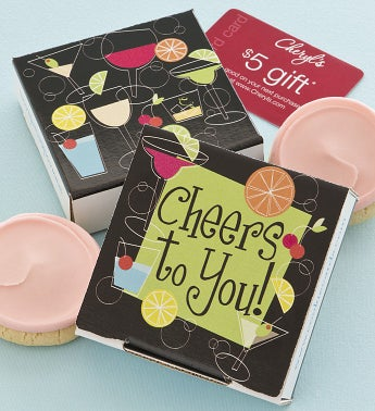 Cheers to You Cookie & Gift Card - Strawberry