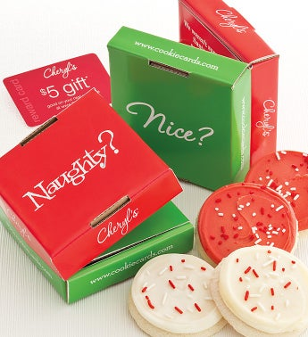 Naughty and Nice Cookie & Gift Card 2 Pack