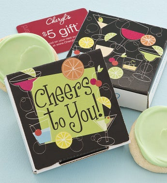 Cheers to You Cookie & Gift Card -  Key Lime
