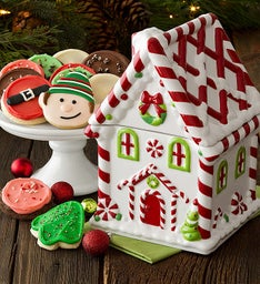 Collector's Edition Peppermint House Cookie Jar