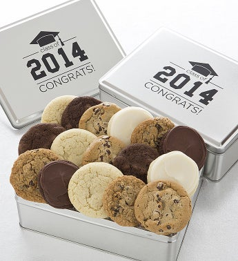 2014 Grad Tin with Assorted Cookies