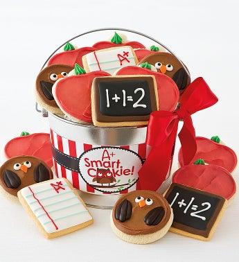 A+ Smart Cookie Frosted Cookie Gift Pail