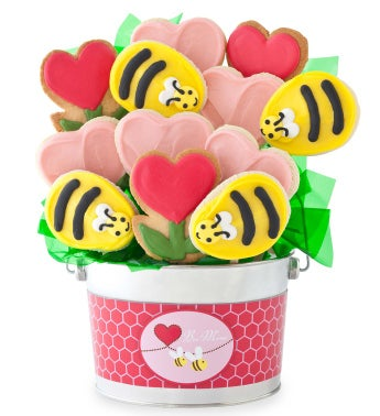 Bee Mine Cookie Flower Pot