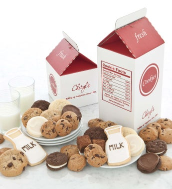 White Milk and Cookies Treats Box