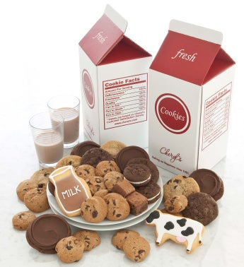 Chocolate Milk and Cookies Treats Box