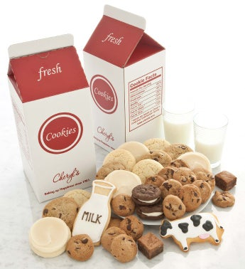 Milk and Cookies Treats Box