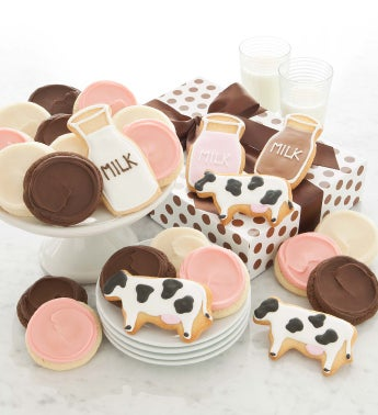 Milk and Cookies Fancy Cookie Gift