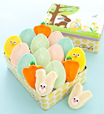 Easter Gift Tin Buttercream Frosted Cutouts