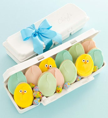 Easter Egg Carton Cutout Cookies