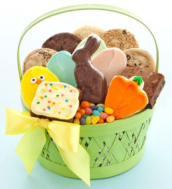 Green Easter Treats Basket