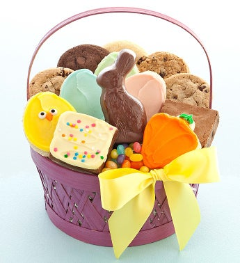 Purple Easter Treats Basket