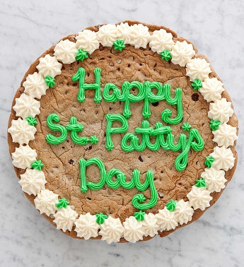 St Patricks Day Chocolate Chip Party Cookie