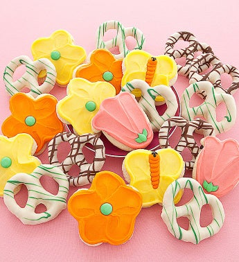 Spring Cookie and Pretzel Gift