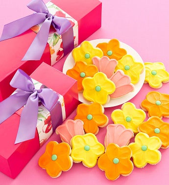 Spring Floral Gift Box - Cutout Cookies