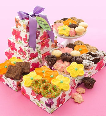 Mothers Day Bakery Gift Tower