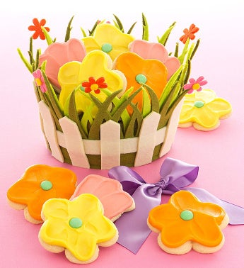 Spring Picket Fence Basket