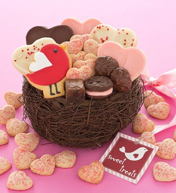 Love Bird Treats Basket