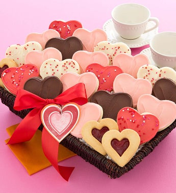 Valentine Cookie Basket