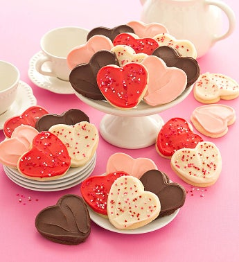 Buttercream Frosted Valentine Cookies