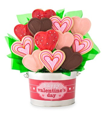 Valentines Cookie Flower Pot