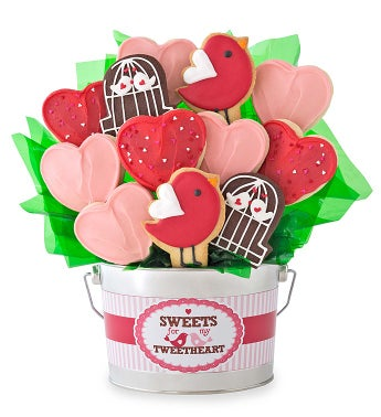 Tweetheart Cookie Flower Pot