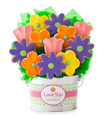 Love You Bunches Cookie Flower Pot