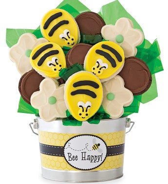 Bee Happy Cookie Flower Pot