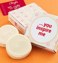 Just Because Cookie & Gift Card - You Inspire Me