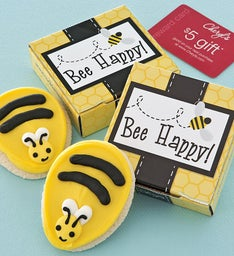 Bee Happy Cookie Card