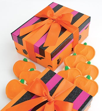 Halloween Frosted Pumpkin Cookie Gift Box