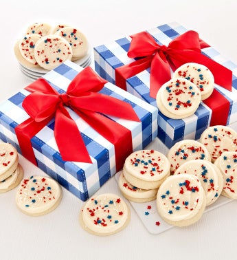 Summer Cookie Boxes - Patriotic Cutouts