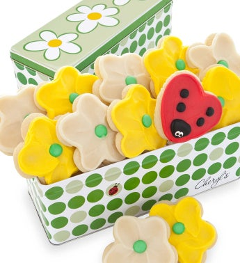 Spring Meadow Gift Tin - 12 Cut Out Cookies
