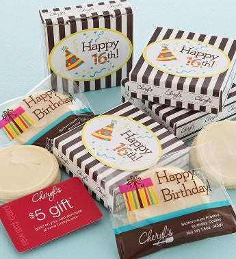 16th Birthday Cookie & Gift Card