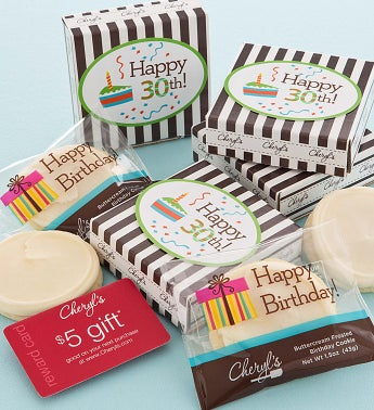 30th Birthday Cookie & Gift Card