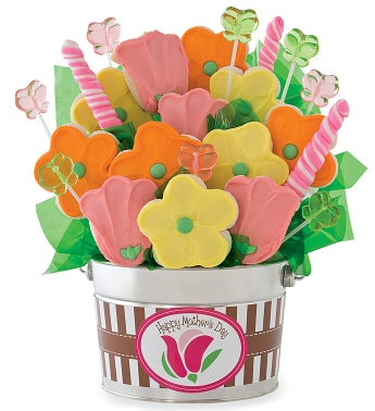 Large Mothers Day Cookie and Candy Flower Pot
