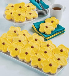 Buttercream Frosted Sunflower Cut-out Cookies