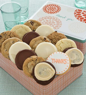 Thank You Gift Tin - 16 Classic Cookies