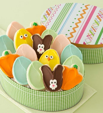 Easter Gift Tin - Frosted Cutouts