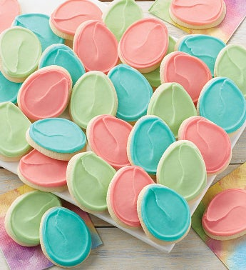 Buttercream Frosted Easter Cutout Cookies