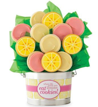 Lemon Cookie Flower Pot