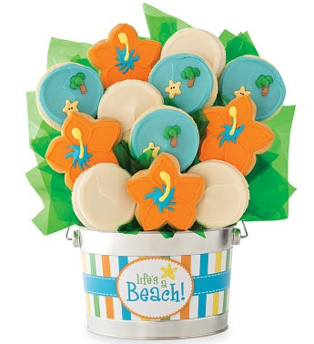 Lifes A Beach Cookie Flower Pot