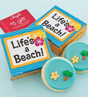 Lifes A Beach Cookie & Gift Card
