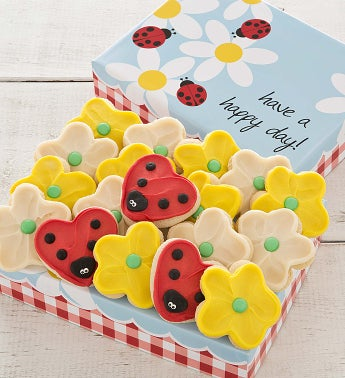 Daisy Gift Box - Buttercream Frosted Cookies