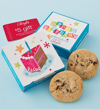 Sugar Free Birthday Cake Cookie & Gift Card